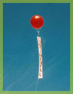 California balloon - 8ft. helium balloon with vertical banner.